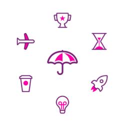 A grid of splash icons
